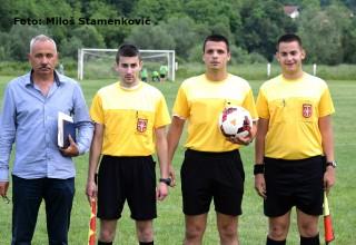 Službena lica na utakmici Jablanica-Kumarevo 65 Medveđa,11.jun 2017.god.