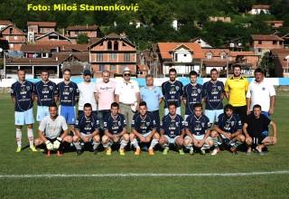 Nadigrali i pobedili slavljenika Selekcija igrača iz klubova MFL Fudbaleri,stručni štab i rukovodstvo Saveza Grdelica, nedelja 25.jun 2017.god.
