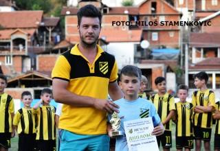 """Najbolji golman turnira Milan Stojković(OFK """"14.jul"""") Gradelica,14.jul 2017."""