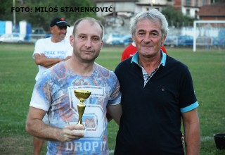 """Turnir """"Grdelica 2017"""" Kapiten Jedinstva sa peharom Grdelica,30.jul 2017."""