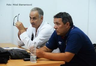 Analitičar Aleksandar Petković i komesar JOL Goran Nedeljković Seminar za služb. lica FSJO,Leskovac,16.avgust 2017.