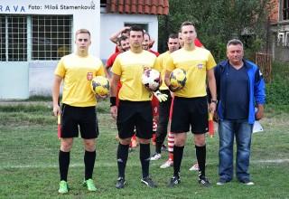 Službena lica na derbiju 3.kola JOL Mladost 1959-Jedinstvo(Grdelica)2:0 Vinarce,03.09.2017.god.