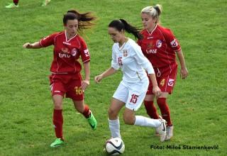 Peto kolo Prve lige Srbije za žene ŽGFK Lavice Dubočica-ŽFK Mačva 2:1(1:0) Leskovac,29.oktobar 2017.godine.