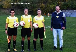 Službena lica na utakmici. ŽFK Mašinac-ŽFK Rad(Beograd) 2:0. Niš,14.oktobar 2017.god.