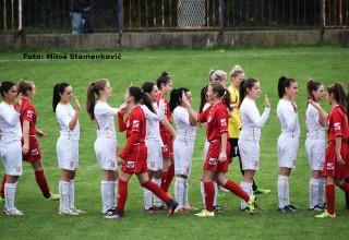 Prva liga Srbije za žene ŽGFK Lavice Dubočica-ŽFK Mačva,detalj Leskovac,29.oktobar 2017.godine.