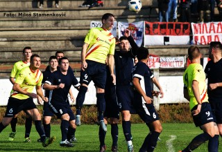 Komšijski derbi Zone Jug FS RIS,detalj GFK Dubočica-FK Jablanica(Medveđa) 3:0 Leskovac,04.novembar 2017.god.