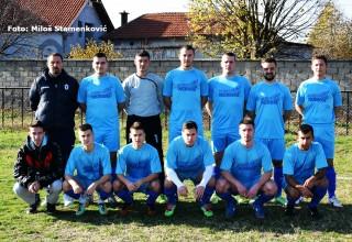 Utakmica 12.kola Jablaničke lige FK Železničar u sezoni 2017./2018.godine Brestovac,5.11.2017.godine