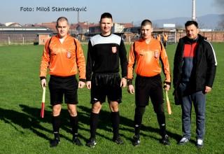 Službena lica na Ligi petlića FS RIS Lider MGM(Leskovac)-Filip Filipović 0:7(0:1) Leskovac,23.11.2017.godine.