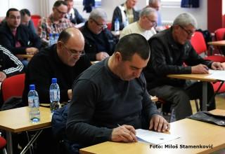 Seminar za službena lica JOL i MFL. Provera spremnosti delegata pred nasavak prvenstva. Leskovac,09.mart 2018.godine.