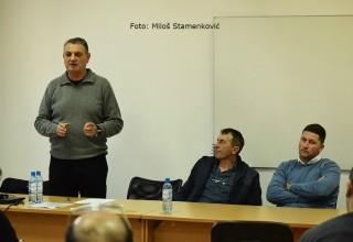 Seminar za delegate JOL i MFL Predavač i rukovodstvo seminara. Leskovac,09.mart 2018.godine.