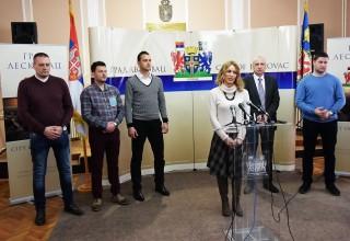 Brankica Stamenković član GV za sport. Svečana sala Grada Leskovca. Leskovac, 26.mart 2018.godine.