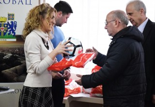 Donacija lopte FSJO za FK Jedinstvo(Grdelica). Leskovac,26.mart 2018.godine.