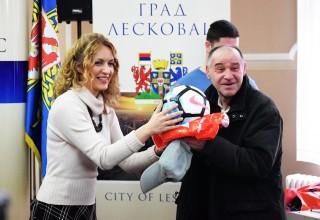 Donacija lopte za OFK Morava. Leskovac,26.mart 2018.godine.