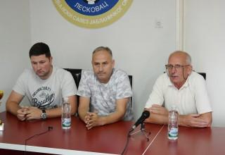 Finale Kupa FSJO za 2018.godinu. Čelnici Saveza: D.Petković, G.Nedeljković i R.Stanković. Leskovac,15.jun 2018.godine.