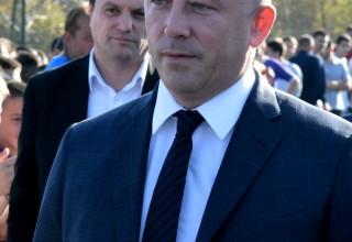 Predsednik FSS Slaviša Kokeza obećao podršku Saveza: Fudbalski Leskovac zaslužuje viši stepen takmičenja. Leskovac,09.10.2018.