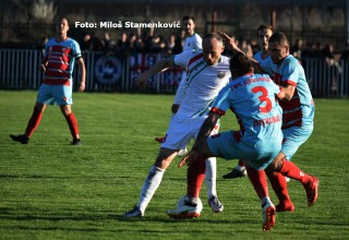 Detalj sa utakmice 20.kola Srpske lige. RADAN-GFK DUBOČICA 1:0(1:0) Lebane,24.mart 2019.godine.