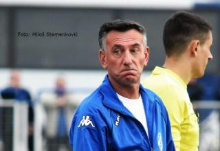 Derbi Zone:Vlasina-Pčinja(Trgovište) 0:0 Trener Vlasine Dragan Nikolić,nezadovoljan. Vlasotince,07.april 2019.godine.
