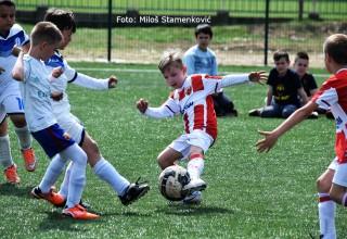 Međunarodni dan sporta. Detalj sa utakmice Lige cicibana GFS Leskovac. Leskovac,06.april 2019.godine.