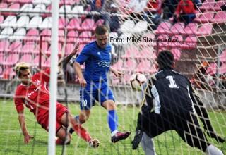 Detalj sa derbija Srpske lige Istok GFK Dubočica-Moravac Orion 3:0. Leskovac,subota,04.05.2019.godine