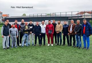 Seminar CEFT FS RIS Učesnici na terenu sa vešt.travom. Leskovac,petak 17.maj 2019.godine