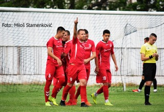 GFK Dubočica-Moravac Orion 3:0. Dvostruki strelac Nikola Stanković. Leskovac,04.05.2019.godine.